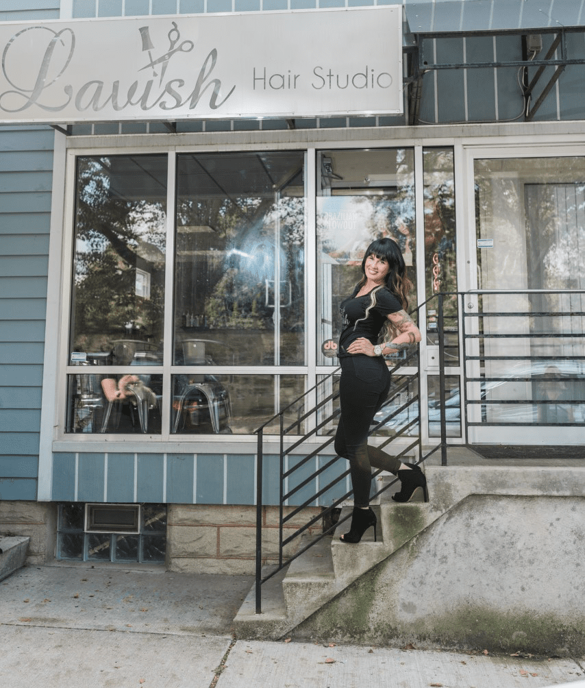 Contact Lavish Hair Studio by coming in to our salon front